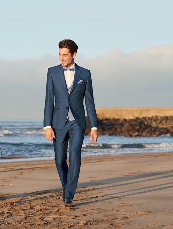 Blue Elegant Wedding Suit