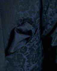 Blue Floral 3 Piece Wedding Suit