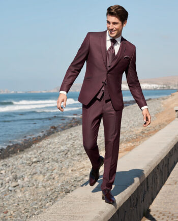 Bordeaux 3 Piece Suit