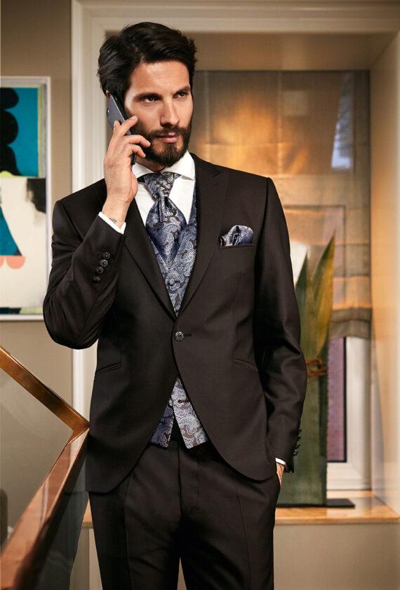 Brown 3 Piece Wedding Suit