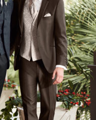 Brown Elegant 3 Piece Suit