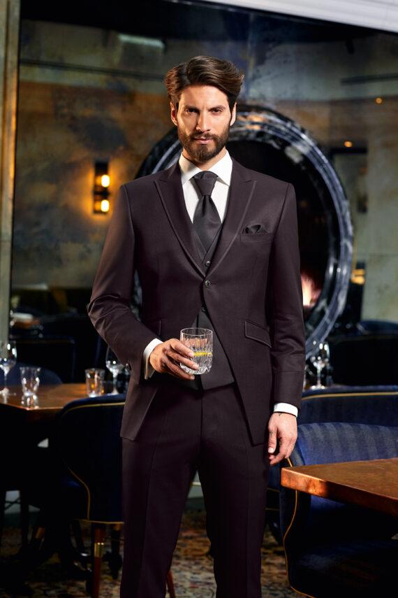 Burgundy 3 Piece Wedding Suit