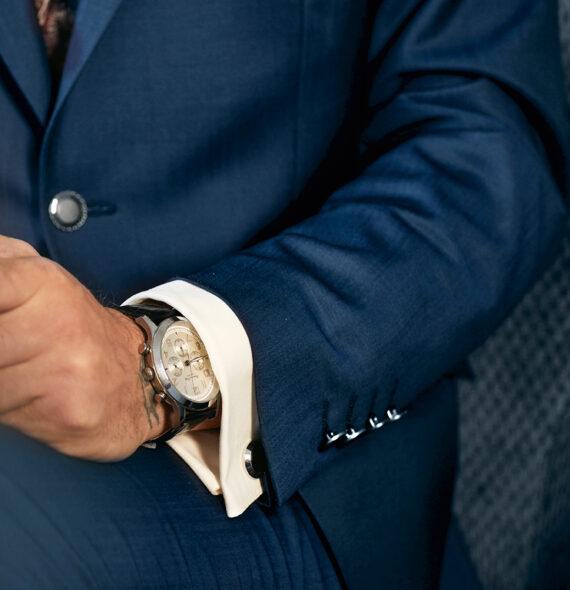 Elegant Blue 3 Piece Wedding Suit