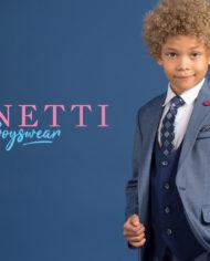 Matthew Light Blue 3 Piece Boys Suit