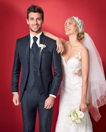 Midnight Blue 3 Piece Wedding Suit