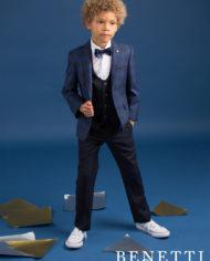 Thomas Grey Windowpane Check Tweed Boys Suit