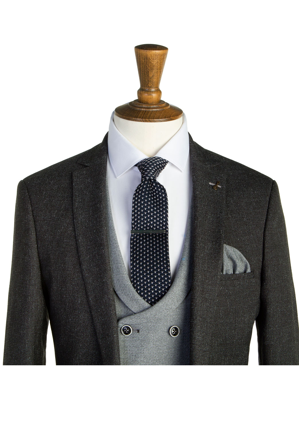 Bentley Charcoal Grey Tweed 3 Piece Suit Tom Murphy S Formal And