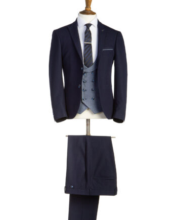 Henry Navy Tweed 3 Piece Suit