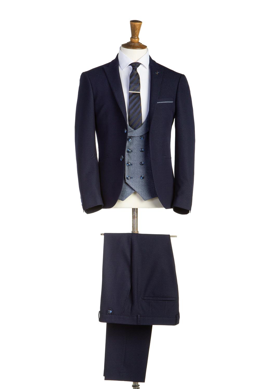 Henry Navy Tweed 3 Piece Suit