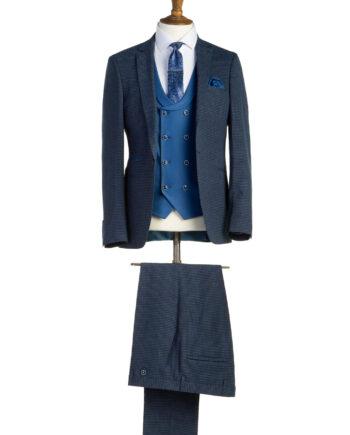 Hunter Blue Tweed 3 Piece Suit