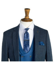 Hunter Blue Tweed 3 Piece Suit