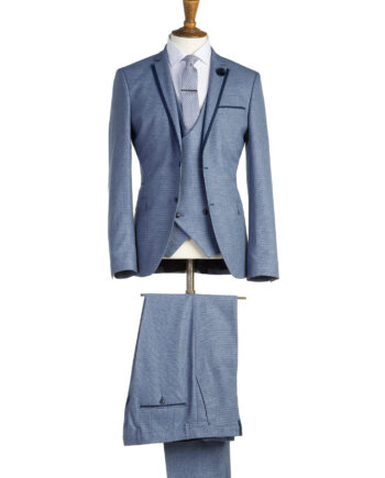 LennonPale Blue Tweed 3 Piece Suit
