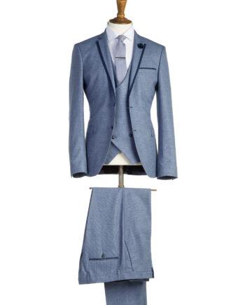 LennonPale Blue Tweed 3 Piece Suit
