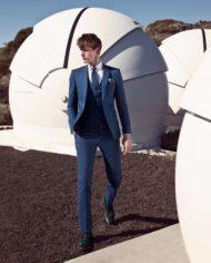 Leonard Blue Tweed 3 Piece Suit