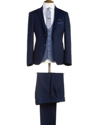 Perry Navy Tweed 3 Piece Suit
