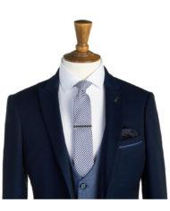 Perry Navy Tweed 3 Piece Suit