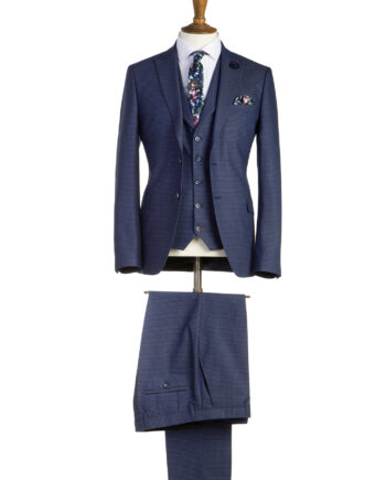 Ronnie Navy Tweed 3 Piece Suit