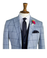 Barkley Pale Blue Navy Check Suit