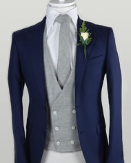 Blue Tweed 3 Piece Suit