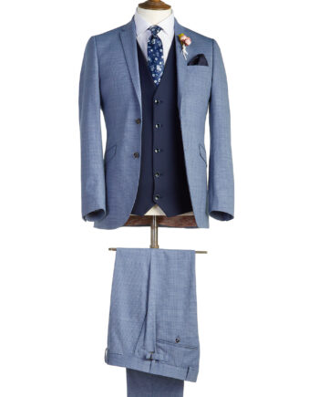 Bradley Light Blue Tweed Suit