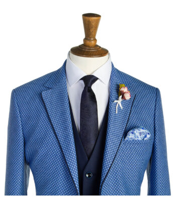 Chadley Blue Check Tweed Suit