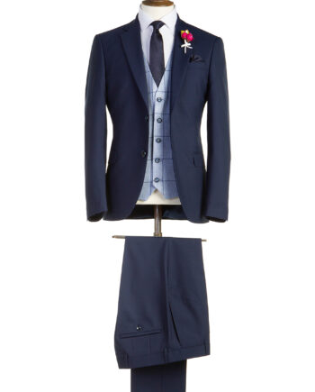 Holditch Navy Tweed Suit