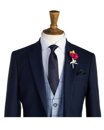 Holditch Navy Tweed Suit