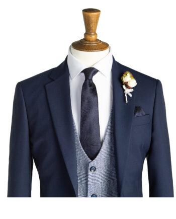 Huntley Navy Tweed Suit