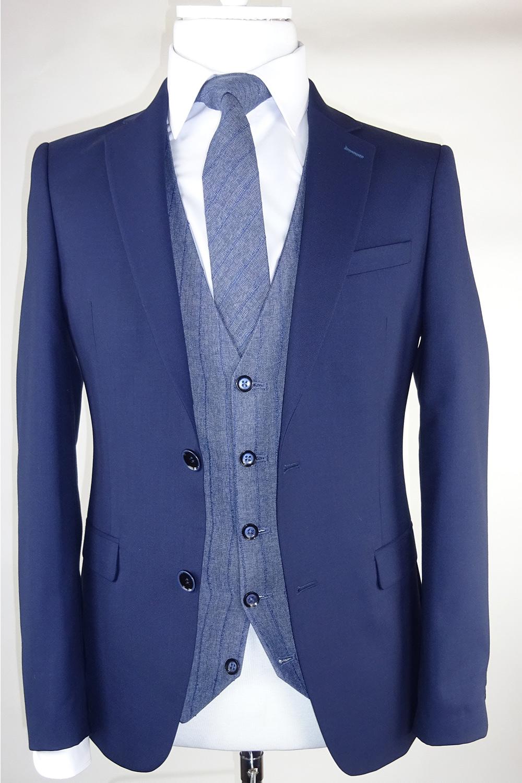 Navy Suit Albert Waistcoat