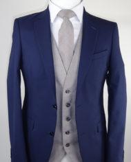Navy suit Grey Ascott Waistcoat