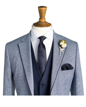 Ruxton Pale Blue Check Tweed Suit
