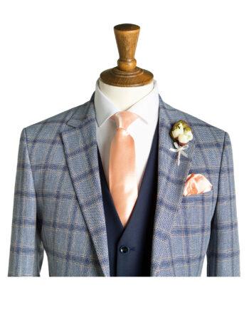Tompson Pale Blue Windowpane Check Suit