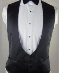 black wedding tuxedo waistcoat