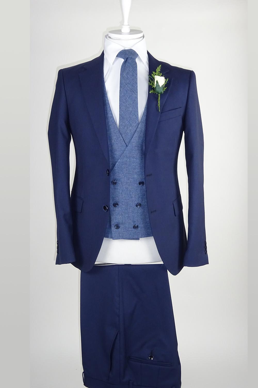 blue suit blue waistcoat