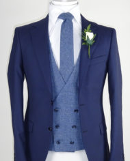 Navy Suit Blue waistcoat