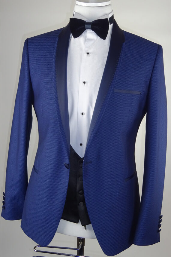 Blue Wedding Tuxedo Navy Lapel