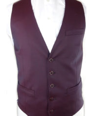 Burgundy Single-breasted waistcoat