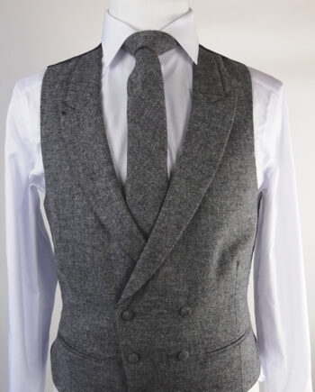 Grey Tweed Double breasted Waistcoat
