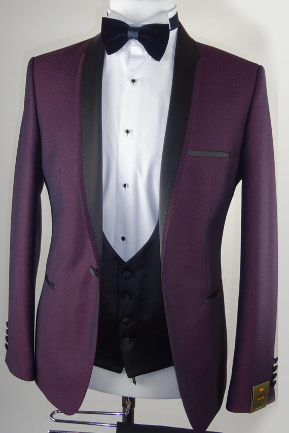 Maroon Wedding Tuxedo