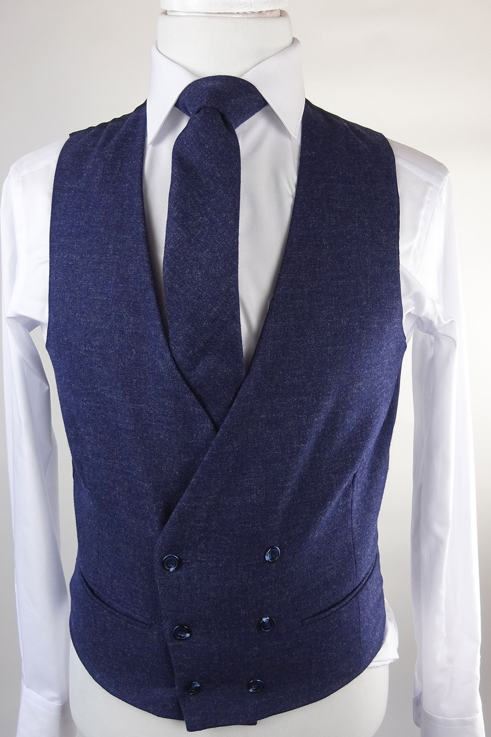 Midnight Lambswool Double breasted Waistcoat
