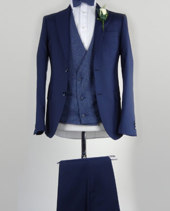 Navy Suit Blue Double breasted Waistcoat