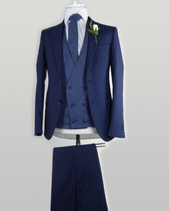 Navy Suit Light Blue Waistcoat