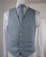 Sky Blue Tweed Waistcoat