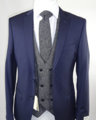 Navy Van Gils Suit Charcoal Double breasted Waistcoat