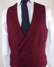 Ascott Wine Double breasted Waistcoat
