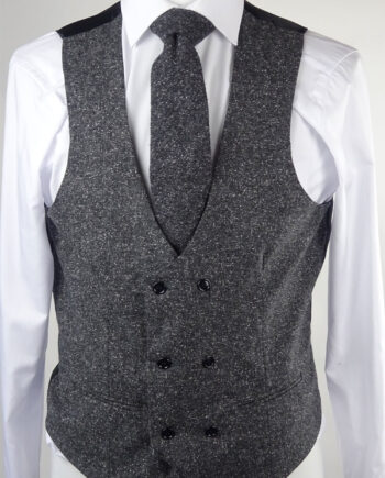 Charcoal Double breasted Waistcoat