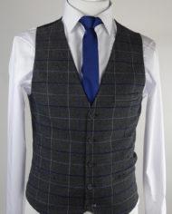 Essex Grey check Waistcoat