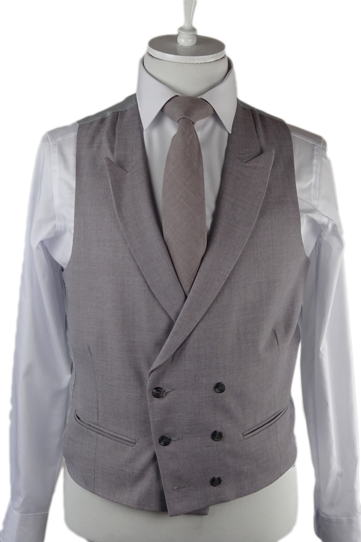 Grey Ascott Double breasted Waistcoat