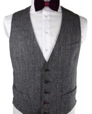 Grey Pink Magee Check Waistcoat