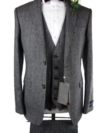 Magee Grey Pink Tweed 3 Piece Suit